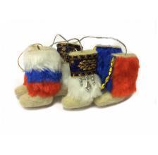 Валенки сувенирные с мехом